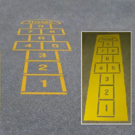 Hopscotch with Home Stencil