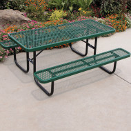 "Picnic Table, 72"" Rectangular, Coated Metal"