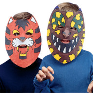 Color-Me™ Masks - Unprinted Animal  (pack of 24)