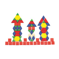 Solid Plastic Pattern Blocks (set of 250)