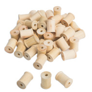 Small Wood Spools (pack of 50)
