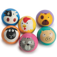 Animal Faces High Bounce Balls (pack of 12)