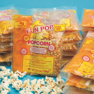Mega Pop® Corn, Oil and Salt Kit for Popcorn Makers with a 4 oz. Kettle (case of 36)