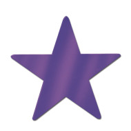 Decorative Foil Star, Purple (pack of 24)