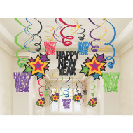 New Years Mega Foil Swirl Pack (pack of 30)