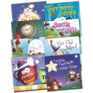 Nursery Rhymes Book Set (set of 8)