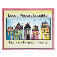 Easy Way Pictures Craft Kit: Love, Peace, Laughter (makes 24)