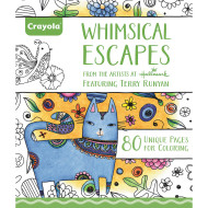 Crayola® Adult Coloring Book: Whimsical Escapes