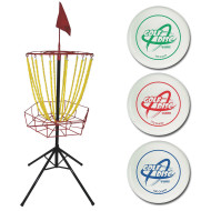 Disc Golf Target and Disc Set