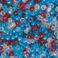 Patriotic Sparkle Pony Bead Mix, 1/2 lb Bag (bag of 900)