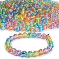 Pastel Happy Face Beads