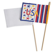 Color-Me™ Blank Flags and Dowels  (makes 12)