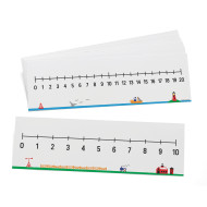 0-10 And 0-20 Number Line Set (set of 10)