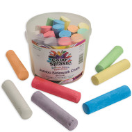 Color Splash!® Sidewalk Chalk Bucket  (bucket of 20)