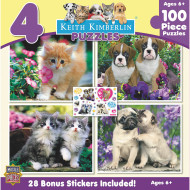 Puppies and Kittens 4-Puzzle Multipack