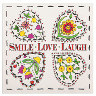 Color and Stitch Craft Kit: Smile, Laugh, Love (makes 12)