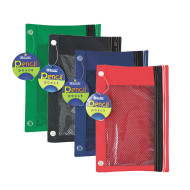 3 Ring Pencil Pouch with Mesh Window (pack of 24)