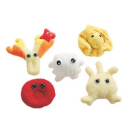 Plush Giant Microbes Blood Cells Set (set of 5)