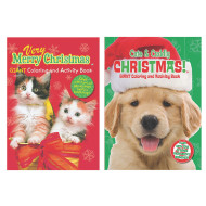 Puppies & Kittens Christmas Coloring Books (pack of 12)