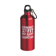 Commit To Be Fit 20 Oz. Aluminum Water Bottle