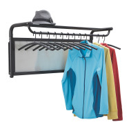 Impromptu Coat Wall Rack with Hangers