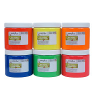 Handy Art® Fluorescent Washable Finger Paint (set of 6)