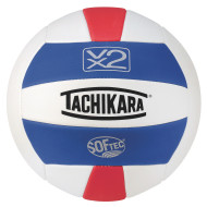 Tachikara® SofTec® VX2 Volleyball (Royal, White, Scarlet)