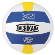 Tachikara® SofTec® VX2 Volleyball (Royal, White, Yellow)
