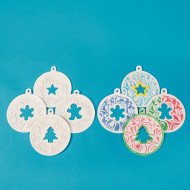 Color-Me™ Embossed Holiday Ornaments (makes 12)