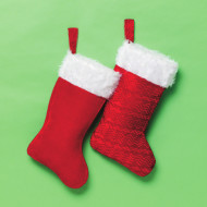 "Large Plush Stocking, 16"" (pack of 12)"