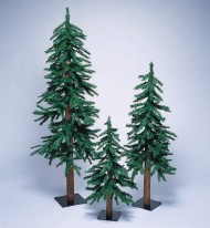 Alpine Christmas Trees Set (set of 3)