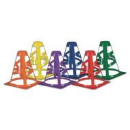 "Collapsible 9"" Safety Cones (set of 6)"