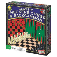 Chess, Checkers, Backgammon Game