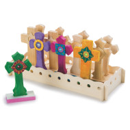 Unfinished Wooden Cross Set (set of 12)