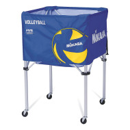 Mikasa® Classic Volleyball Cart, Blue/Yellow