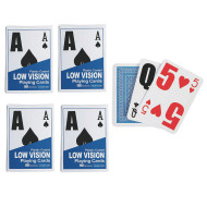 S&S® Low Vision Playing Cards (pack of 4)
