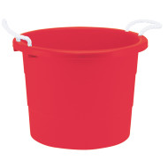 19-Gallon Rope Handle Tub, Red