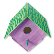 Unfinished Wood Birdhouse, Unassembled (pack of 12)
