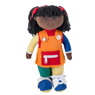 Learn To Dress African American Girl Doll
