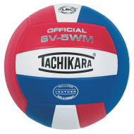 Tachikara® SV-5WM Performance Volleyball, Scarlet/White/Royal