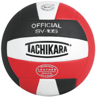 Tachikara® 18S Volleyball, Black/White/Scarlet