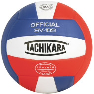 Tachikara® 18S Volleyball, Royal/White/Scarlet
