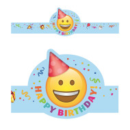 Emoji Fun Happy Birthday Crowns (pack of 30)