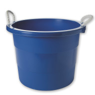 10-Gallon Rope Handle Tub, Blue