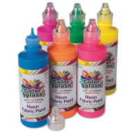 4-oz. Color Splash!® Neon Fabric Paint Assortment (set of 6)