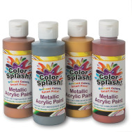 8-oz. Color Splash!® Metallic Acrylic Paint Assortment (set of 4)
