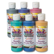 8-oz. Color Splash!® Metallic Acrylic Paint Assortment (set of 6)