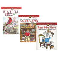 Creative Haven® Americana Coloring Books (set of 3)