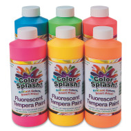 16-oz Color Splash!® Neon Liquid Tempera Paint Assortment (set of 6)