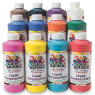 Color Splash!® Liquid Tempera 16 oz. Assortment (pack of 12)